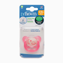 Prevent Glow In The Dark Butterfly Shield Stage 2 Moon & Stars Pacifier (6-12M) by Dr. Brown's