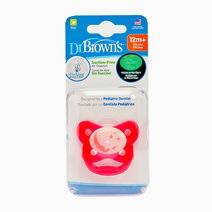 Prevent Glow In The Dark Butterfly Shield Stage 3 Pink Bear on Moon Pacifier (12M+) by Dr. Brown's