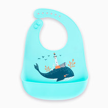 Green Whale Silicone Bib by Gubby and Hammy