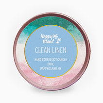 Clean Linen Soy Candle (2oz) by Happy Island