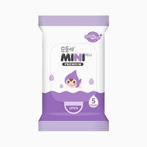 Mini Baby Wipes Embossed & Scented (5s x 10, Pocket Size) by Soondoongi
