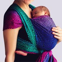 Dark Aurora Cube Woven Wrap Size 6 by Littlefrog