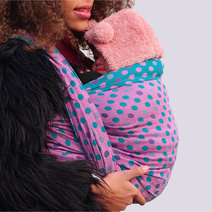 Polka Dots Ultra Petrol Pink Glam Ring Sling by Yaro Slings