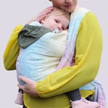 Gravity Duo White Lights Rainbow Woven Wrap Size 6 by Yaro Slings