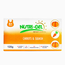 Carrots & Squash Infant Cereal (120g x 3) by Nutri-Del