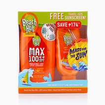 Beach Hut Max 100 Lotion (100ml) + SPF50 (40ml) with Carabiner by Beach Hut