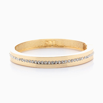 Tennis Hinged Bangle by Sal Y Limon