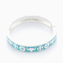Pocahontas Hinged Bangle by Sal Y Limon