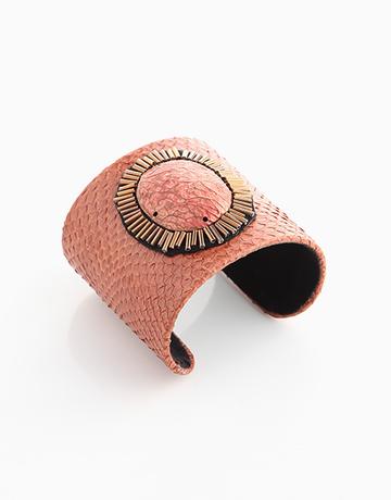 100% Snakeskin Cuff (Orange) by Luxessory Manila