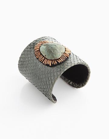 100% Snakeskin Cuff (Green) by Luxessory Manila