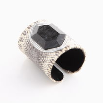 White Snakeskin Cuff (M) by Luxessory Manila
