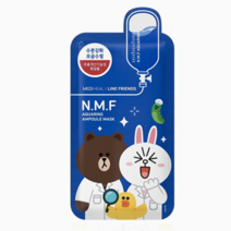 Line Friends N.M.F. Aquaring Ampoule Mask by Mediheal