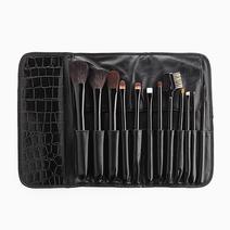 Personal Funky Black 12-Piece Makeup Brush Set by Suesh