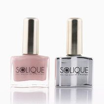 Rose Quartz + Gel Top Coat by Solique