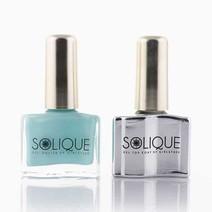 Baby Blues + Gel Top Coat by Solique