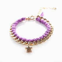 Gold Chain & Rope Bracelet by Luxe Studio