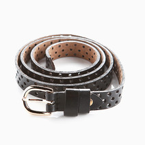 Perforated Leather Belt by Luxe Studio