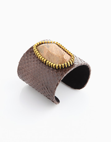 100% Snakeskin Cuff (Brown) by Luxessory Manila