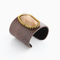 For A Stylish Edge: Genuine Brown Snakeskin Cuff by Luxessory Manila