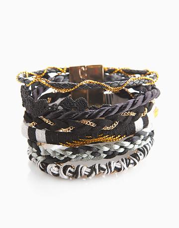 Black Mixed Maxi Bracelet by Timi