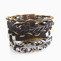 Black Mixed Maxi Bracelet by Timi