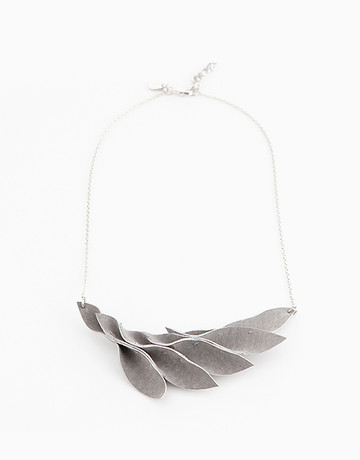 Gray Leaves Necklace by Timi