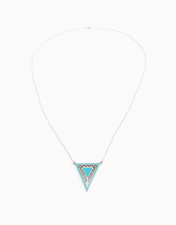Silver Aztec Long Necklace by Timi