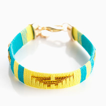Blue/Yellow Navajo Bracelet by Timi