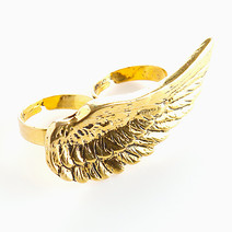 Gold Feather Ring by Timi