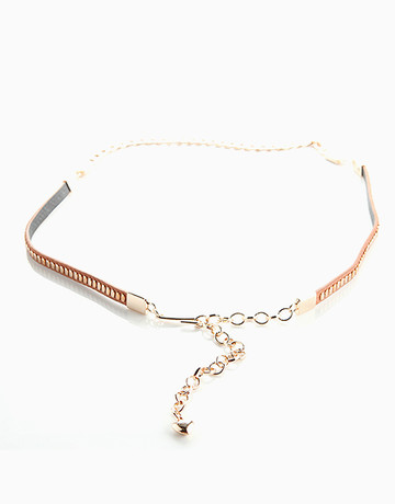 Leather & Chain Belt by Luxe Studio