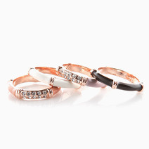 Orlina Stacked Rings by Luxe Studio