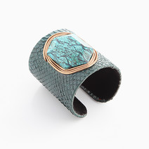 Teal Snakeskin Cuff (M) by Luxessory Manila