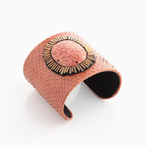 Channel Summer: Genuine Orange Snakeskin Cuff by Luxessory Manila