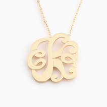 Elegant Monogram Necklace by Vain Accessories
