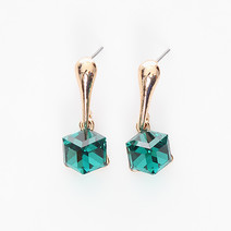 Cube Gem Earrings by Luxe Studio
