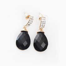 Oval Gem Earrings by Luxe Studio