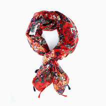 Fall Floral Scarf with Tassels by Luxe Studio