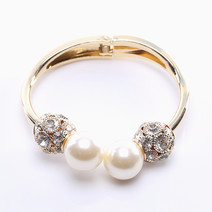 Pearl and Pave Bangle   by Luxe Studio