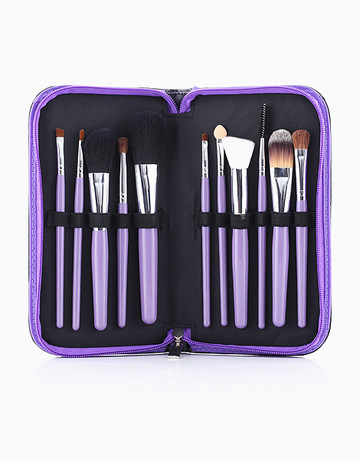 11-Piece Brush Set (Purple) by PRO STUDIO Beauty Exclusives
