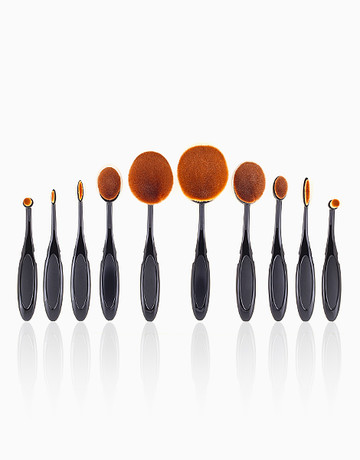 10-Piece Oval/Linear Brush Set by PRO STUDIO Beauty Exclusives
