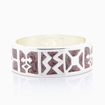 Cathedral Hinged Bangle by Sal Y Limon