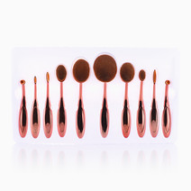 10-Piece Oval Brush Set by Brush Work