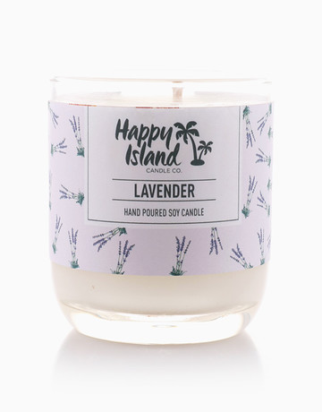 Lavender Candle Soy Candle (8oz/240ml) by Happy Island