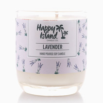 Lavender Candle Soy Candle (8oz/240ml) by Happy Island Candle Co