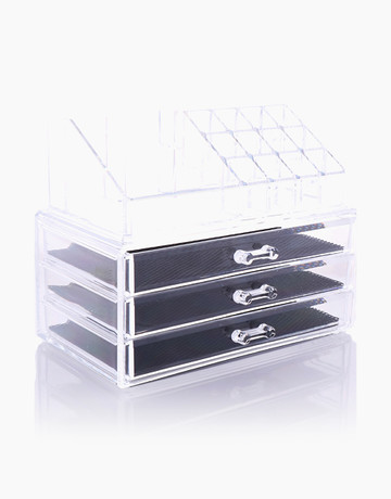 Acrylic Organizer w/ 3 Drawers by Brush Works