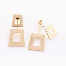 Two-Piece Geometric Earrings by Luxe Studio
