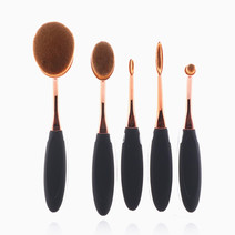 5-Piece Oval Brush Set by Brush Work