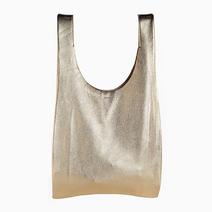 Medium Leather Bag by Baggu