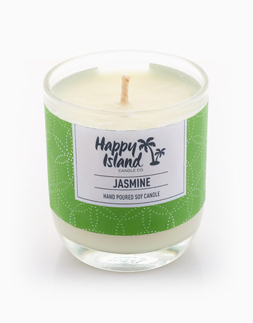 Jasmine Soy Candle (8oz/240ml) by Happy Island