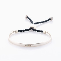 Love Affirmation Band (Silver) by Mantra Lifestyle Co
